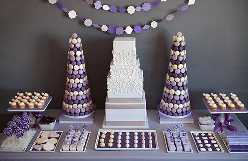 Cup Cakes Violet Anniversaire